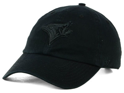 Toronto Blue Jays '47 MLB Black on Black CLEAN UP Cap