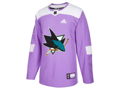 San Jose Sharks adidas NHL Men's Authentic Hockey Fights Cancer Jersey