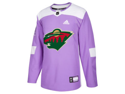 Minnesota Wild adidas NHL Men's Authentic Hockey Fights Cancer Jersey