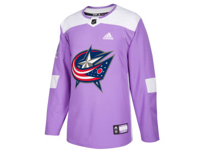 Columbus Blue Jackets adidas NHL Men's Authentic Hockey Fights Cancer Jersey