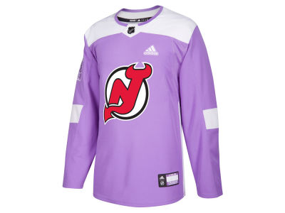 New Jersey Devils adidas NHL Men's Authentic Hockey Fights Cancer Jersey