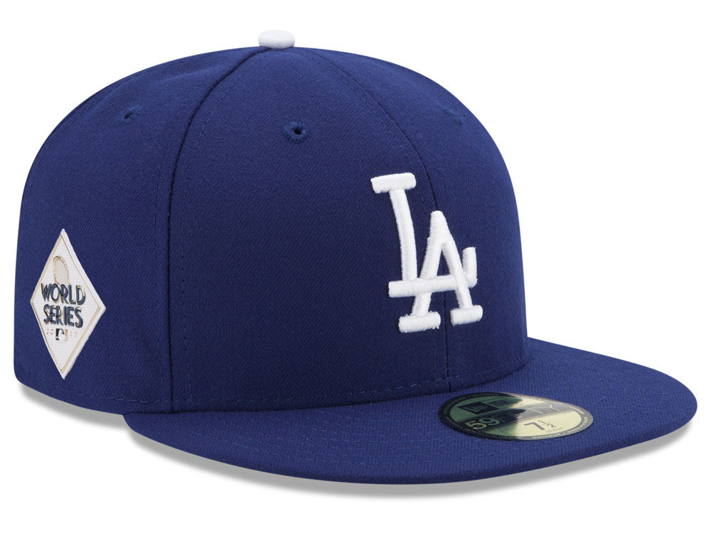 los angeles dodgers new era 2017 mlb world series patch authentic 59fifty cap