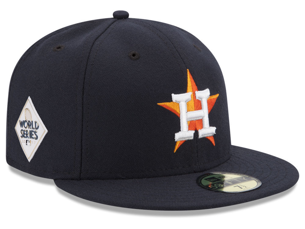 Houston Astros New Era 2017 MLB World Series Patch Authentic 59FIFTY Cap  31a431c3333b