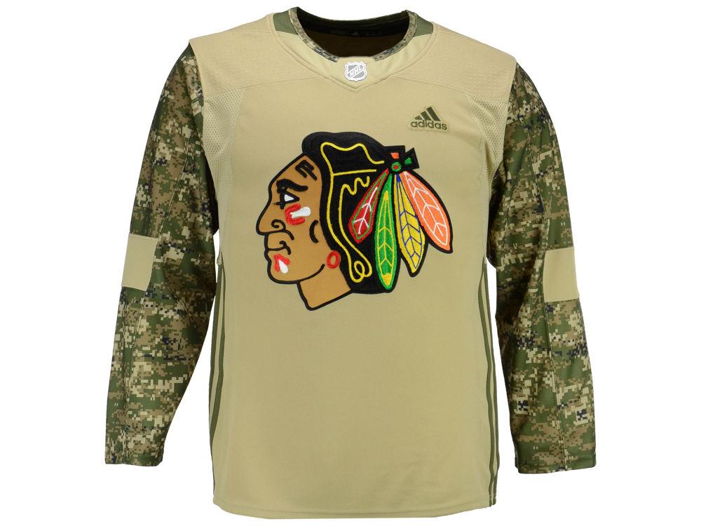 720e68e07 Chicago Blackhawks adidas NHL Men s Authentic Camo Jersey