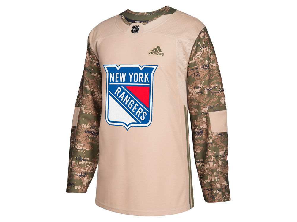 New York Rangers adidas NHL Men s Authentic Camo Jersey  35fb731f9d6