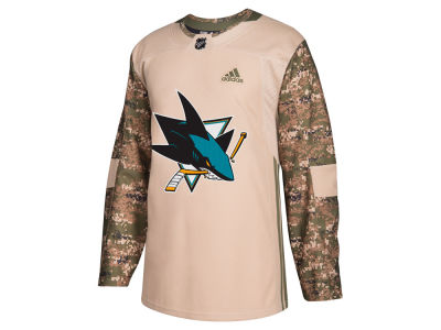 San Jose Sharks adidas NHL Men's Authentic Camo Jersey