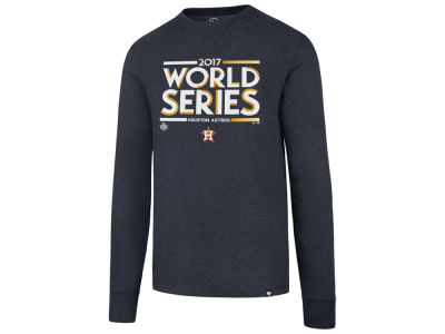 Houston Astros 2017 MLB Men's World Series Stack Long Sleeve T-shirt