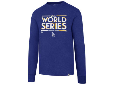 Los Angeles Dodgers 2017 MLB Men's World Series Stack Long Sleeve T-shirt