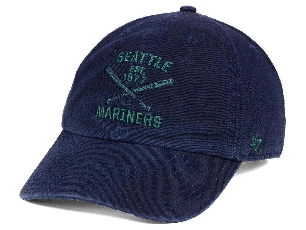 f0c54868c5daa 50% off seattle mariners 47 mlb axis 47 clean up cap d1220 534db