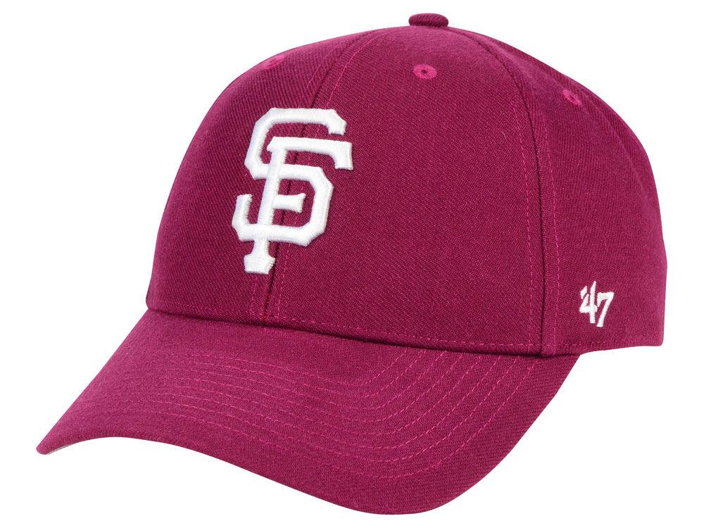 buy popular 361f1 014f6 ... adjustable hat black white 13e55 7d027  inexpensive san francisco  giants 47 mlb cardinal 47 mvp cap lids 86cf8 7427a