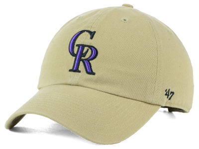 Colorado Rockies '47 MLB Khaki '47 CLEAN UP Cap