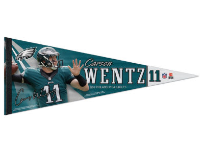 Philadelphia Eagles Carson Wentz 12x30 Premium Player Pennant