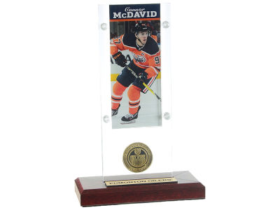 Edmonton Oilers Connor McDavid Highland Mint NHL Ticket and Coin Acylic