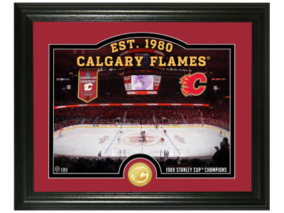 Calgary Flames Highland Mint Rink Photo Mint Coin - Bronze