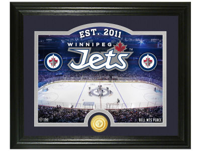 Winnipeg Jets Highland Mint Rink Photo Mint Coin - Bronze