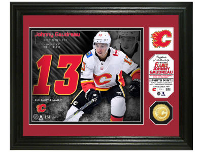 Calgary Flames Johnny Gaudreau Highland Mint Photo Mint Coin-Bronze