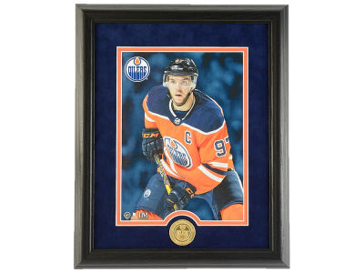 Edmonton Oilers Connor McDavid Highland Mint 13x16 Canvas Frame