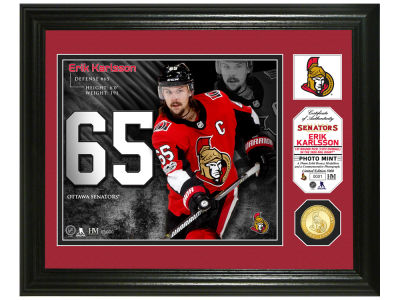 Ottawa Senators Erik Karlsson Highland Mint Photo Mint Coin-Bronze