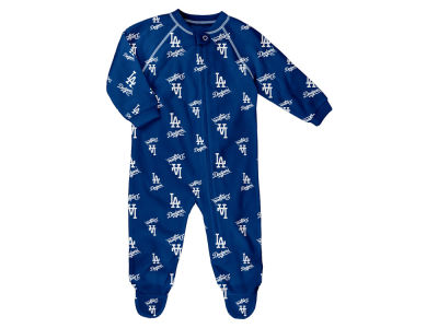 Los Angeles Dodgers Majestic MLB Infant Raglan Zip Coverall