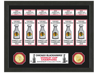 Chicago Blackhawks Banner Photo Mint Coin - Bronze