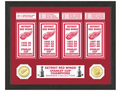 Detroit Red Wings Banner Photo Mint Coin - Bronze