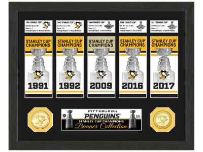Pittsburgh Penguins Highland Mint Banner Photo Mint Coin - Bronze