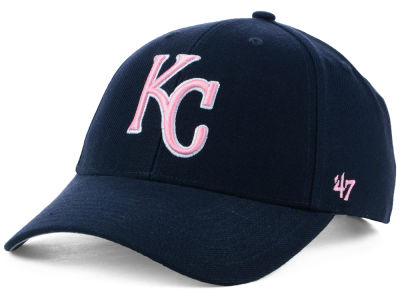 Kansas City Royals '47 MLB Navy Pink MVP Cap