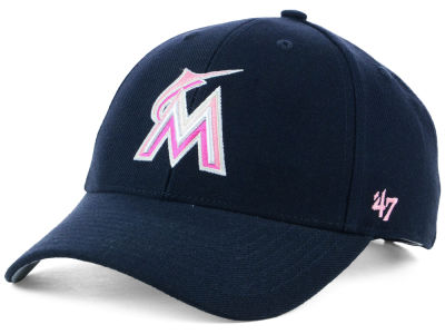 Miami Marlins '47 MLB Navy Pink MVP Cap