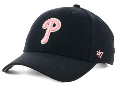 Philadelphia Phillies '47 MLB Navy Pink MVP Cap