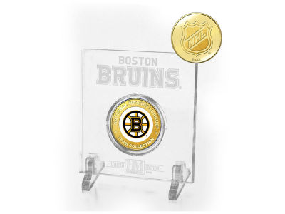 Boston Bruins Etched Acrylic w/ Coin