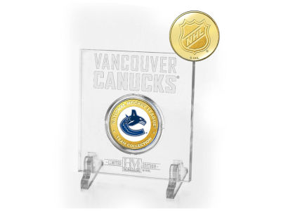 Vancouver Canucks Highland Mint Etched Acrylic w/ Coin