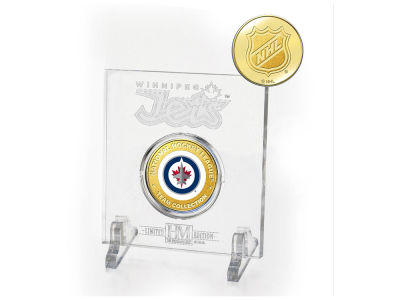 Winnipeg Jets Highland Mint Etched Acrylic w/ Coin