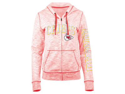 Kansas City Chiefs 5th & Ocean NFL Women's Space Dye Full Zip Hoodie