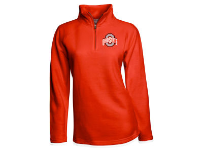 J America NCAA Women's Fleece Quarter Zip Pullover