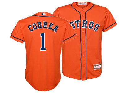 Houston Astros Carlos Correa Majestic MLB Youth Player Replica Cool Base Jersey