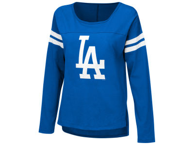 Los Angeles Dodgers MLB Women's Free Agent Glitter Long Sleeve T-Shirt