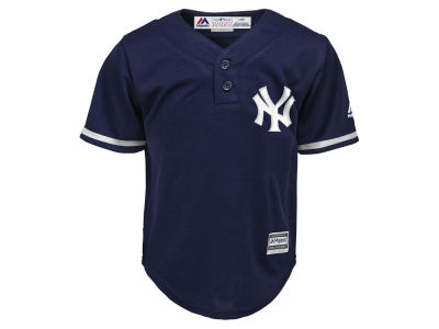 New York Yankees Majestic MLB Kids Cool Base Henley Jersey