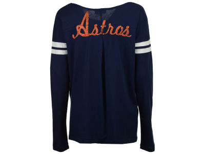 Houston Astros G-III Sports MLB Women's Free Agent Glitter Long Sleeve T-Shirt
