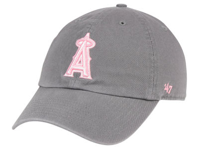 Los Angeles Angels '47 MLB Dark Gray Pink '47 CLEAN UP Cap