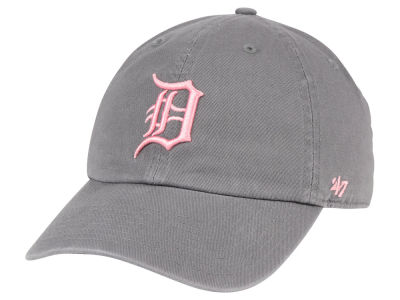 Detroit Tigers '47 MLB Dark Gray Pink '47 CLEAN UP Cap