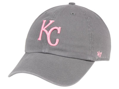 Kansas City Royals '47 MLB Dark Gray Pink '47 CLEAN UP Cap