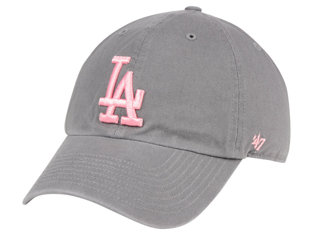 Los Angeles Dodgers  47 MLB Dark Gray Pink  47 CLEAN UP Cap  79282ef1dfb