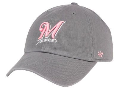 Milwaukee Brewers '47 MLB Dark Gray Pink '47 CLEAN UP Cap