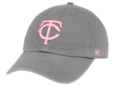 Minnesota Twins '47 MLB Dark Gray Pink '47 CLEAN UP Cap