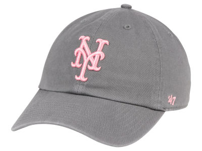 New York Mets '47 MLB Dark Gray Pink '47 CLEAN UP Cap