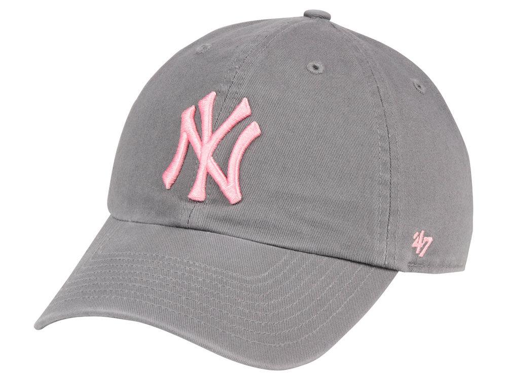 New York Yankees  47 MLB Dark Gray Pink  47 CLEAN UP Cap  92fb2f433