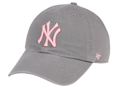 New York Yankees '47 MLB Dark Gray Pink '47 CLEAN UP Cap