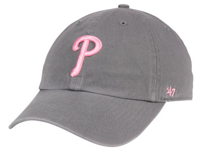 Philadelphia Phillies '47 MLB Dark Gray Pink '47 CLEAN UP Cap