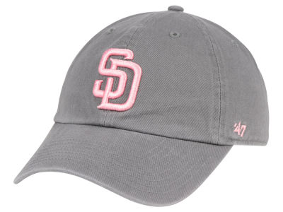 San Diego Padres '47 MLB Dark Gray Pink '47 CLEAN UP Cap