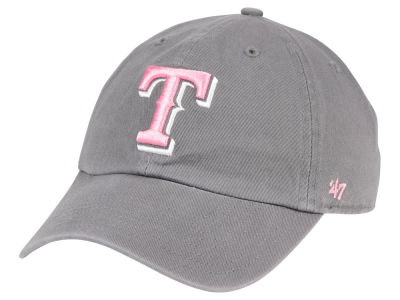 Texas Rangers '47 MLB Dark Gray Pink '47 CLEAN UP Cap